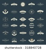 retro vintage logotypes or... | Shutterstock .eps vector #318840728