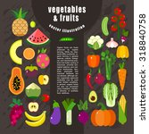 fruits and vegetables templates.... | Shutterstock .eps vector #318840758