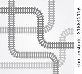 railroad track silhouettes.... | Shutterstock .eps vector #318845156
