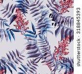 leaves seamless pattern | Shutterstock . vector #318845393