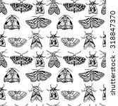 seamless pattern with various... | Shutterstock .eps vector #318847370