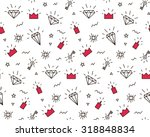 vector pattern with elements of ... | Shutterstock .eps vector #318848834