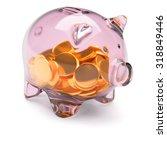 Transparent Glass Piggy Bank...