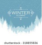 holiday winter landscape... | Shutterstock .eps vector #318855836