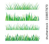 backgrounds of green grass... | Shutterstock .eps vector #318857870