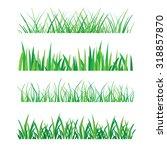 backgrounds of green grass... | Shutterstock .eps vector #318857870