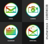 trendy flat image line apps...