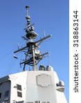Small photo of Mast with Aegis Radar System in a destroyer ship