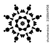 black mandala pattern on white... | Shutterstock .eps vector #318864908