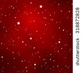 simple starry dark red sky with ... | Shutterstock .eps vector #318872828