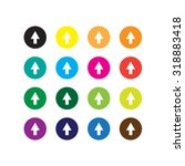 arrow sign icon set for website | Shutterstock .eps vector #318883418