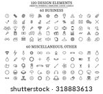 120 design elements   objects ... | Shutterstock .eps vector #318883613
