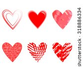 set of vector sketch hearts.set ... | Shutterstock .eps vector #318886334