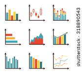 graphs and data icon set.... | Shutterstock .eps vector #318890543