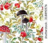 Watercolor Autumn Retro Pattern ...