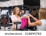 woman at the checkout makes... | Shutterstock . vector #318890783