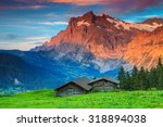 Beautiful Alpine Landscape Old...