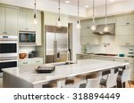 kitchen interior with island ... | Shutterstock . vector #318894449