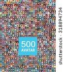 set of 500  color diferent... | Shutterstock .eps vector #318894734