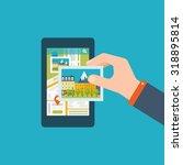 mobile gps navigation on mobile ... | Shutterstock . vector #318895814