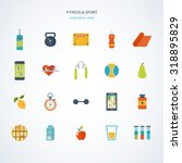 modern flat icons of healthy...   Shutterstock . vector #318895829