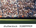 blurred crowd of spectators on... | Shutterstock . vector #318899909