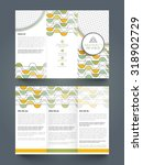 professional business trifold... | Shutterstock .eps vector #318902729