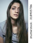 problem depressioned teenage... | Shutterstock . vector #318905786