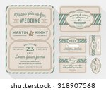 wedding invitation sets for... | Shutterstock .eps vector #318907568