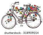 bike with flowers  design...