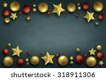 christmas ball with decoration... | Shutterstock . vector #318911306