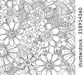floral seamless pattern.... | Shutterstock .eps vector #318914360