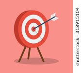 arrow hitting target. business... | Shutterstock .eps vector #318915104