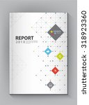 modern annual report cover... | Shutterstock .eps vector #318923360