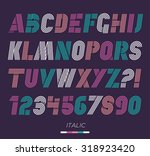 retro stripes funky fonts set ... | Shutterstock .eps vector #318923420