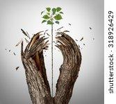 breaking through concept as a... | Shutterstock . vector #318926429