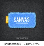 vector rough stitched blue... | Shutterstock .eps vector #318937793