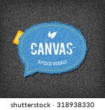 vector rough stitched blue... | Shutterstock .eps vector #318938330