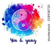 yin and yang decorative symbol. ... | Shutterstock .eps vector #318938720