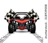 racing background with red... | Shutterstock .eps vector #318939008