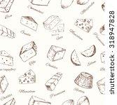 cheese set seamless pattern.... | Shutterstock .eps vector #318947828