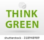 think green   eco poster. green ... | Shutterstock .eps vector #318948989