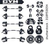 gym equipment of vintage... | Shutterstock .eps vector #318953054