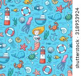 sea life and nautical stuff... | Shutterstock .eps vector #318953924