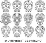 vector collection of day of the ... | Shutterstock .eps vector #318956240
