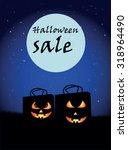 sale halloween | Shutterstock .eps vector #318964490