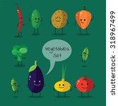 vegetables set | Shutterstock .eps vector #318967499