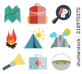 set of camping icons | Shutterstock .eps vector #318970370