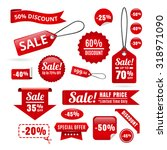 red sale discount tags  badges... | Shutterstock .eps vector #318971090