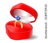 diamond engagement ring in box... | Shutterstock .eps vector #318973910